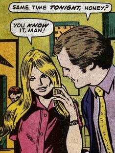 """Comic Girls Say.. """"You know it, man!"""" #comic #popart #vintage"""