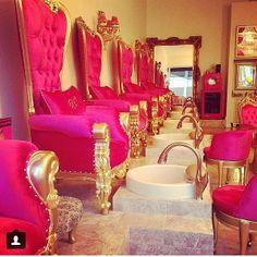 Get a Mani Pedi 9532 S Santa Monica blvd,Beverly Hills, Ca Spa Design, Salon Design, Kids Salon, Nail Salon Decor, Salon Furniture, Gothic Furniture, Wooden Furniture, Beauty Room, Beauty Bar