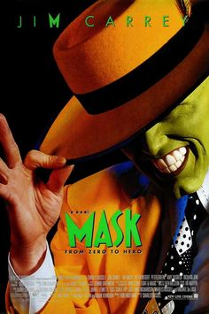 Directed by Chuck Russell. With Jim Carrey, Cameron Diaz, Peter Riegert, Peter Greene. Bank clerk Stanley Ipkiss is transformed into a manic superhero when he wears a mysterious mask. 90s Movies, Great Movies, Movies To Watch, Movies Free, Famous Movie Posters, Famous Movies, Cinema Posters, Love Movie, Movie Tv
