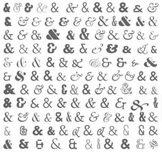 Ampersand. But which font to choose....