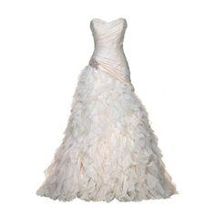 Vestidos de Noiva ❤ liked on Polyvore featuring dresses, wedding dresses, gowns, wedding and vestidos