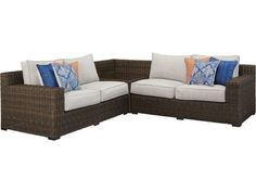 For indoor or outdoor use (excluding fire pit). Cushioned resin wicker seating, modular seating and fire pit chat set. 2 throw pillows included with loveseat and sofa. Fire Pit Chat Set, Call Orange, Orange Crush, Big Dogs, Outdoor Furniture, Outdoor Decor, Summer Fun, Wicker, Diana