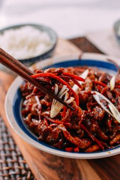Shredded Pork Stir-fry with Sweet Bean Sauce (京酱肉丝) recipe by the Woks of Life