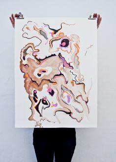 snedker studios marbled paper print (via tiny bird)