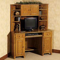 Black Corner Desk With Hutch
