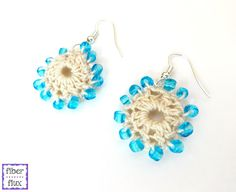 Fiber Flux: Free Crochet Pattern...Beach Wedding Earrings!