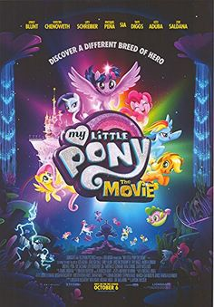 "My Little Pony: The Movie - Authentic Original 27"" x 39"" Movie Poster: original; regular; rolled; single sided;"