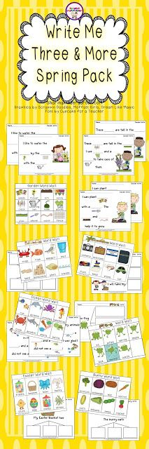 Spring Writing Pack... word walls and writing prompts for each theme listed.