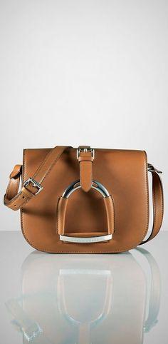 Fancy - Calfskin Stirrup Shoulder Bag by Ralph Lauren 9c1043c6bc506