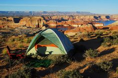 Tent camping at Grand Staircase Escalante, Utah #camping #tent #outdoor
