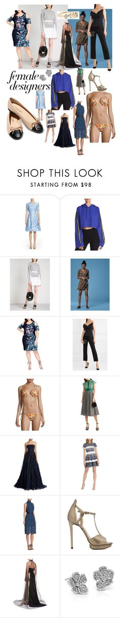 """""""My favorite female designers and their looks"""" by gillie-langford ❤ liked on Polyvore featuring Lela Rose, Puma, Chanel, Sacai, Diane Von Furstenberg, Rachel Rachel Roy, Vivienne Westwood, Tory Burch, Monique Lhuillier and ML Monique Lhuillier"""