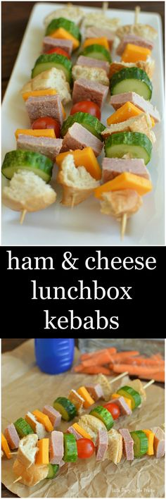 Bored of sandwiches in your lunchbox? Switch it up and try Ham and Cheese Lunchbox Kebabs! Easy and fun!