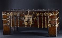 Viebahn Fine Arts: A Medieval Coffer, Oak with Iron Mounts, Circa 1500.