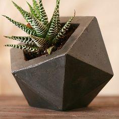 Concrete Planter Dark Gray by Andrew Stuart