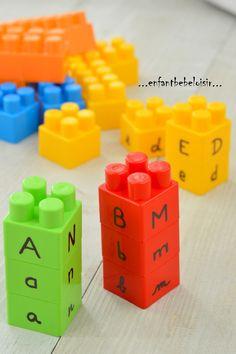 Apprendre les lettres - avec des légos
