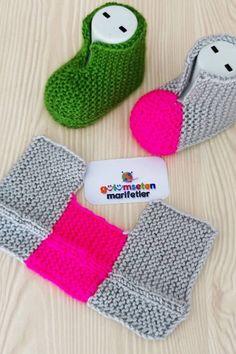 Crochet Slippers Knitting For BeginnersKnitting HatCrochet Hair StylesCrochet Ideas Baby Booties Knitting Pattern, Knit Headband Pattern, Knit Baby Booties, Baby Knitting Patterns, Knitting Socks, Booties Crochet, Crochet Patterns, Baby Slippers, Knitted Slippers