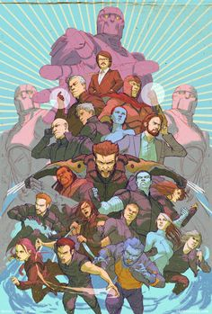 XMen Days of Future Past full team by DavidRapozaArt on deviantART