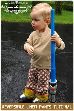 Reversible Lined Pants Tutorial   SewSheSews.wordpress.com