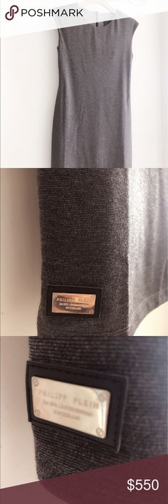 Philipp Plein gray dress Never used. Perfect condition! Don't miss it, one in a life time opportunity to wear a classic Philipp Plein dress under $1000!!! Have it on black too, size M Philipp Plein Dresses Midi