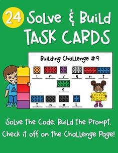 Solve and Build Task Cards Lego Coding, Lego Therapy, Stem Projects For Kids, Critical Thinking Activities, Continuous Provision, Lego Club, Creative Thinking, Teacher Pay Teachers, Task Cards