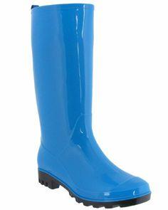 Amazon.com: Capelli New York Shiny Solid Ladies Jelly Rain Boot Turquoise 7: Shoes