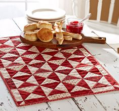 Sign up for Demelia's Newsletter at our website, www.demeliasquiltco.com to find out how you can make this small table mat and win a $25.00 gift card.