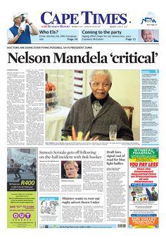 Nelson Mandela 'critical'