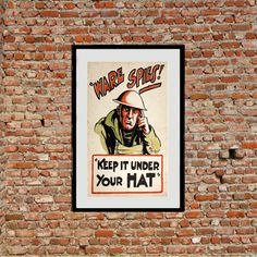 Vintage WW2 Poster reprints from $25