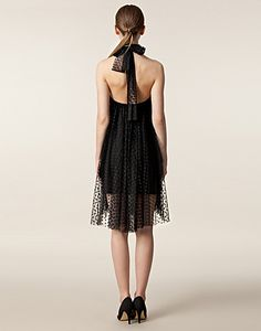 i like this, but i think it would look bad on me.....Polka Dot Tulle Halter Dress / IDA SJÖSTEDT