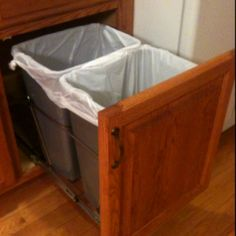 Garbage & recycling in the cabinet :)