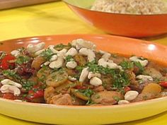Chipotle Cashew Chicken with Brown Rice Recipe   Rachael Ray   Food Network