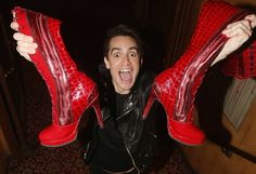 Brendon Urie of the band 'Panic! At The Disco' poses backstage after making his broadway debut as 'Charlie Price in the hit musical 'Kinky Boots' on Broadway at The Al Hirschfeld Theatre on May 26, 2017 in New York City.