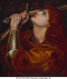 """~Joan Of Arc (painting by Rosetti)  """"One life is all we have and we live it as we believe in living it. But to sacrifice what you are and to live without belief, that is a fate more terrible than dying."""""""