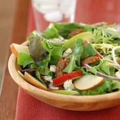 Apple, pear and candied pecan salad