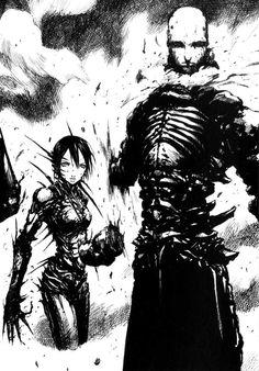 Tsutomu Nihei Character Concept, Character Art, Concept Art, Character Design, Comic Books Art, Comic Art, Cyberpunk, Der Steppenwolf, Character Illustration
