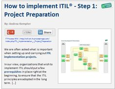 How to implement ITIL: Step 1 -- Project preparation.