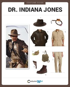 Dress Like Dr. Indiana Jones from the movies. See additional costumes and Indiana Jones cosplays. Costume Indiana Jones, Indiana Jones Halloween, Indiana Jones Party, Safari Costume, Got Costumes, Costume Ideas, Cosplay Ideas, Indiana Jones Adventure, Indiana Evans