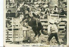 Homer Holcomb At Rowell Ranch Rodeo Hayward Ca 1943 Old