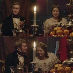 Wilhelmina and Alfred at Christmas dinner after their engagement Victoria 2016, Victoria Itv, Victoria Series, Queen Victoria, Victoria Masterpiece, Hbo Go, Hemlock Grove, Jenna Coleman, New Series