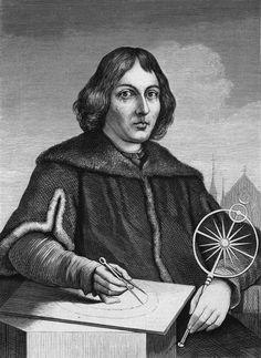 Astronoom en wiskundige Nicolaus Copernicus, ontdekte dat de aarde om de zon draaide