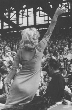 Marilyn photographed at Ebbets Field, May 12th 1957