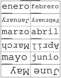 Learn the days of the week and month in Spanish. Free to download and print