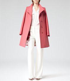 Womens Flamingo Sharply Tailored Coat - Reiss Loire