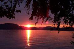 Lake Sunapee dock view at sunset - my bliss