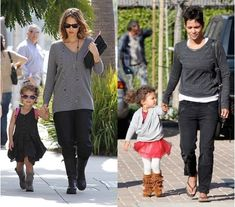 Must-have this winter: boots - brown fringed boots; khaki boots; UGG boots, ... Have a bit of mix and match. They can go so well from leggings to dress, and tutus. See Halle Berry's beautiful girl Nahla in her tutu dress and brown fringed boots.