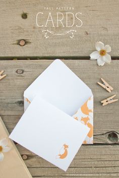 These adorable little cards and their matching envelopes are the perfect way to send a letter of gratitude to someone! Printable Designs, Printable Cards, Free Printables, Freebies Printable, Letter Of Gratitude, Envelopes, Christmas Origami, Fall Patterns, Fall Cards