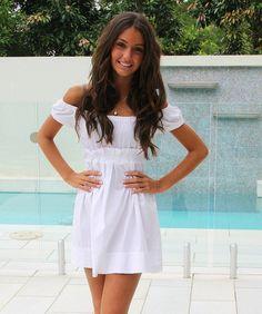 white dress.:) adorbs.