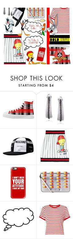 """The Plan Was To Work From Home Tonight, But I Put On A Tweety Night Shirt & This Is What I Accomplished Instead, LOL"" by sharee64 ❤ liked on Polyvore featuring DB Designs, Moschino, Casetify, Miss Selfridge, LOONEY TUNES and BERRICLE"