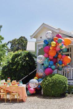 Cosy Home Interior Wild Thing Balloon Garland.Cosy Home Interior Wild Thing Balloon Garland Balloon Arch, Balloon Garland, Balloon Decorations, Balloon Ideas, Diy Garland, Party Animals, Animal Party, Party Fiesta, Festa Party