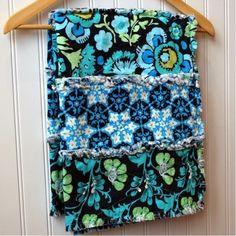 SALE - Baby Rag Quilt - Amy Butler Daisy Chain Blue